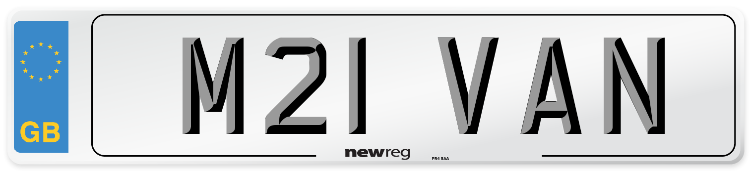 M21 VAN Number Plate from New Reg