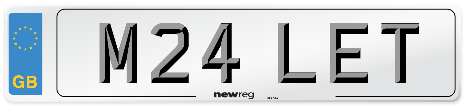 M24 LET Number Plate from New Reg
