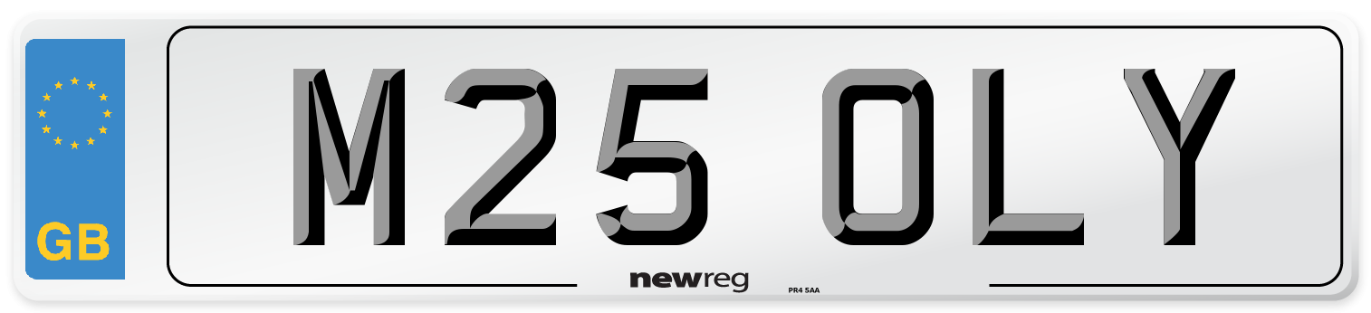 M25 OLY Number Plate from New Reg
