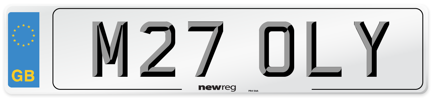 M27 OLY Number Plate from New Reg
