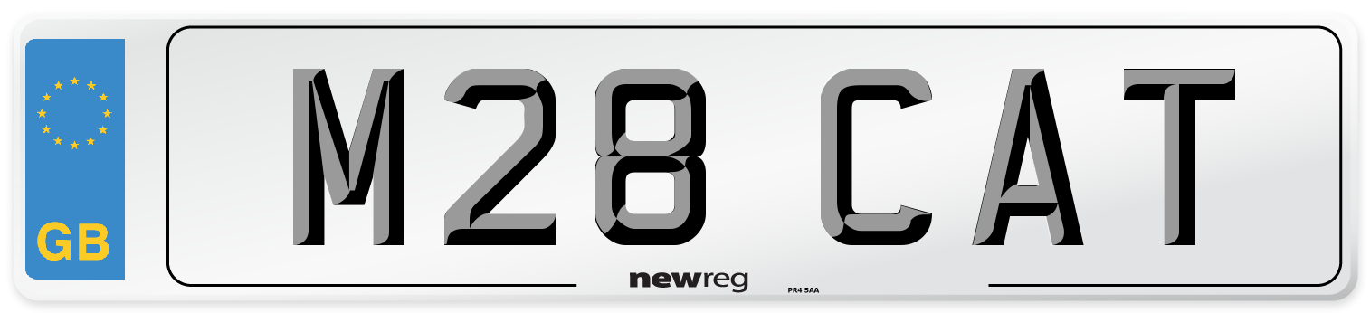 M28 CAT Number Plate from New Reg