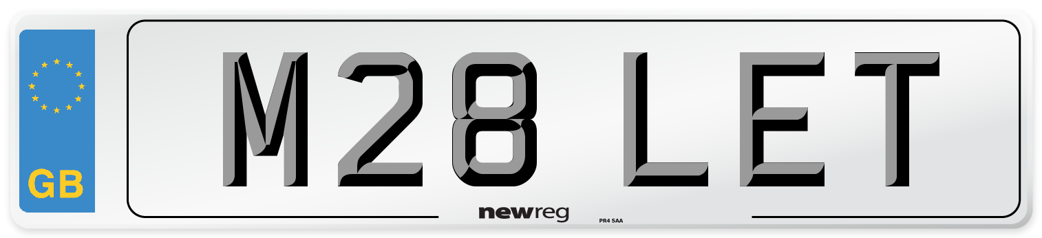 M28 LET Number Plate from New Reg