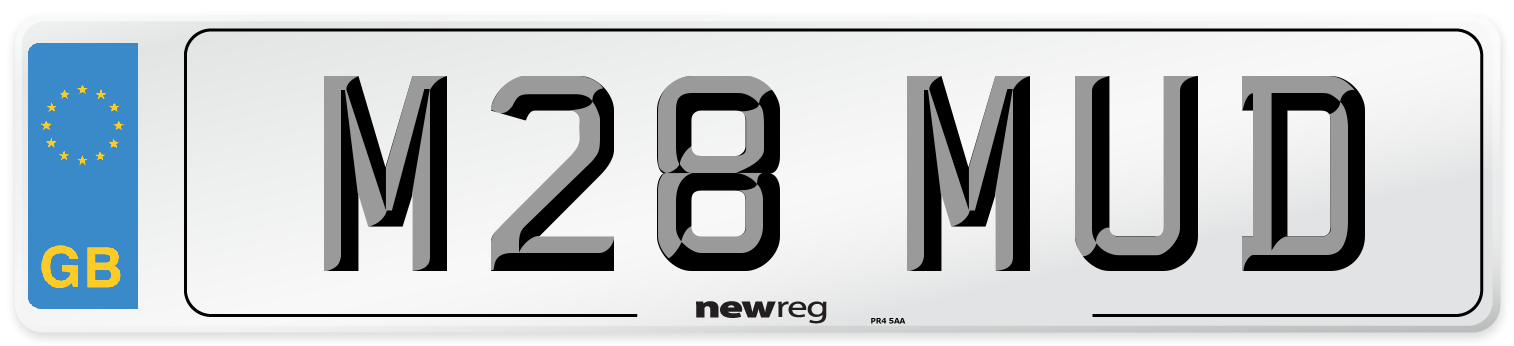 M28 MUD Number Plate from New Reg