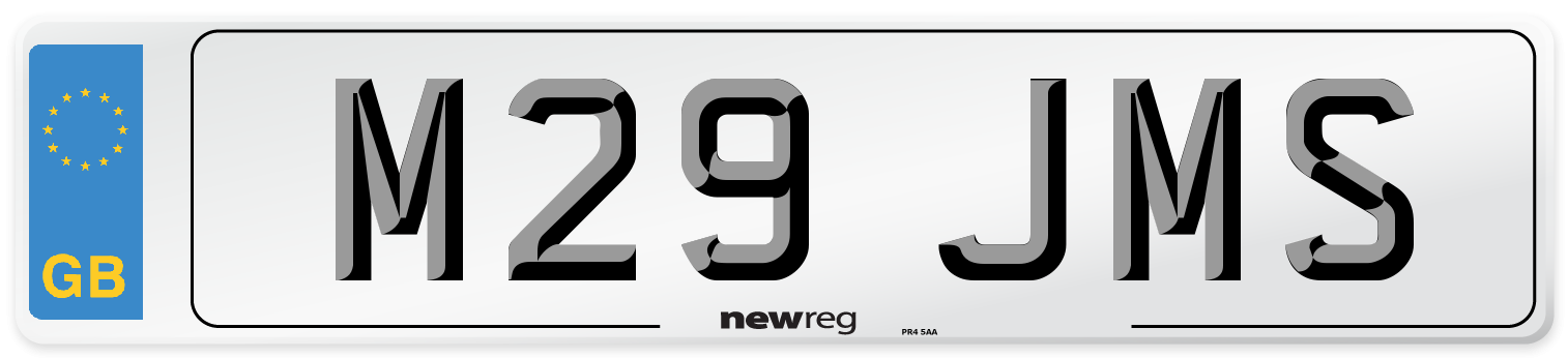 M29 JMS Number Plate from New Reg