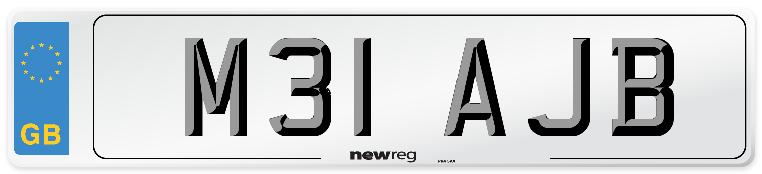 M31 AJB Number Plate from New Reg
