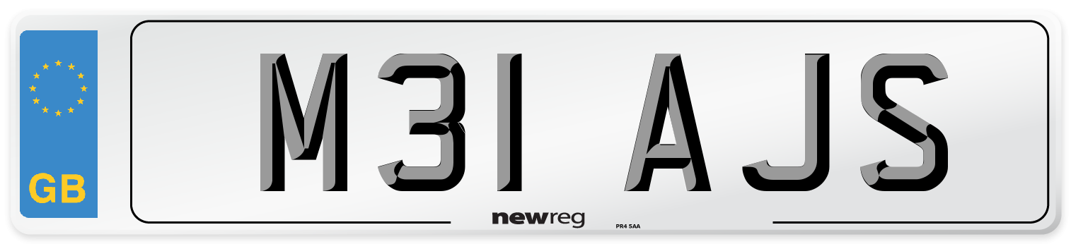 M31 AJS Number Plate from New Reg
