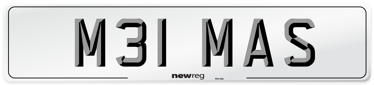 M31 MAS Number Plate from New Reg
