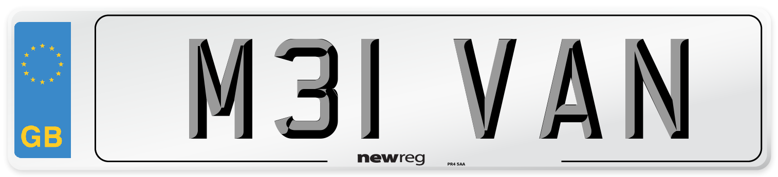 M31 VAN Number Plate from New Reg