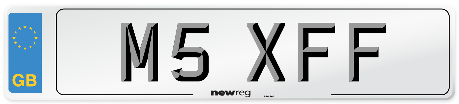 M5 XFF Number Plate from New Reg