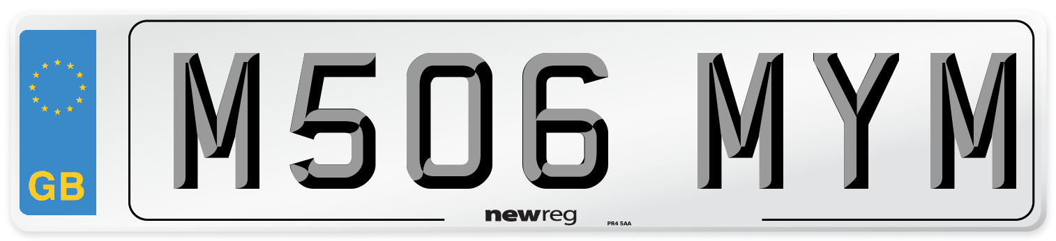 M506 MYM Number Plate from New Reg