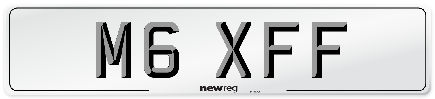 M6 XFF Number Plate from New Reg
