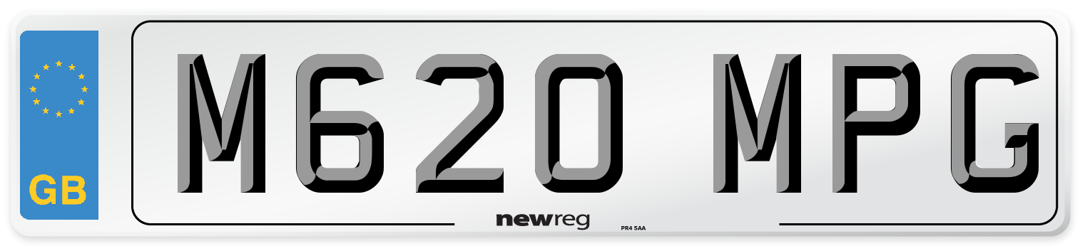 M620 MPG Number Plate from New Reg