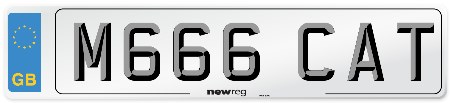 M666 CAT Number Plate from New Reg