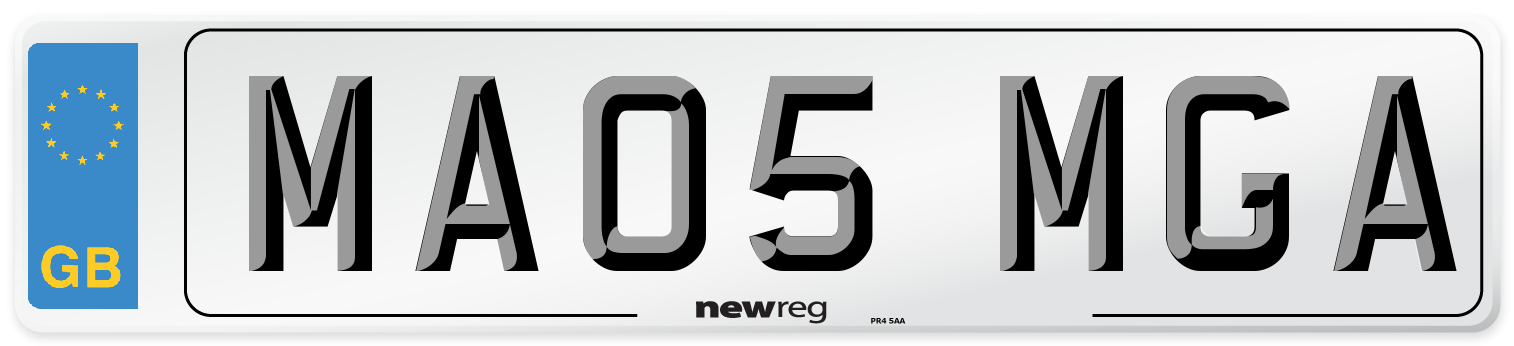 MA05 MGA Number Plate from New Reg