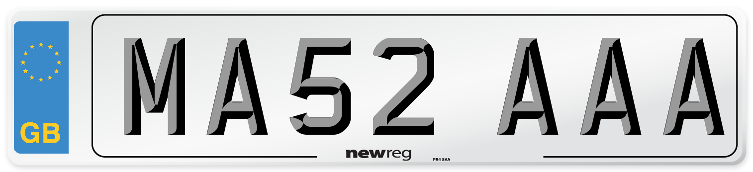 MA52 AAA Number Plate from New Reg