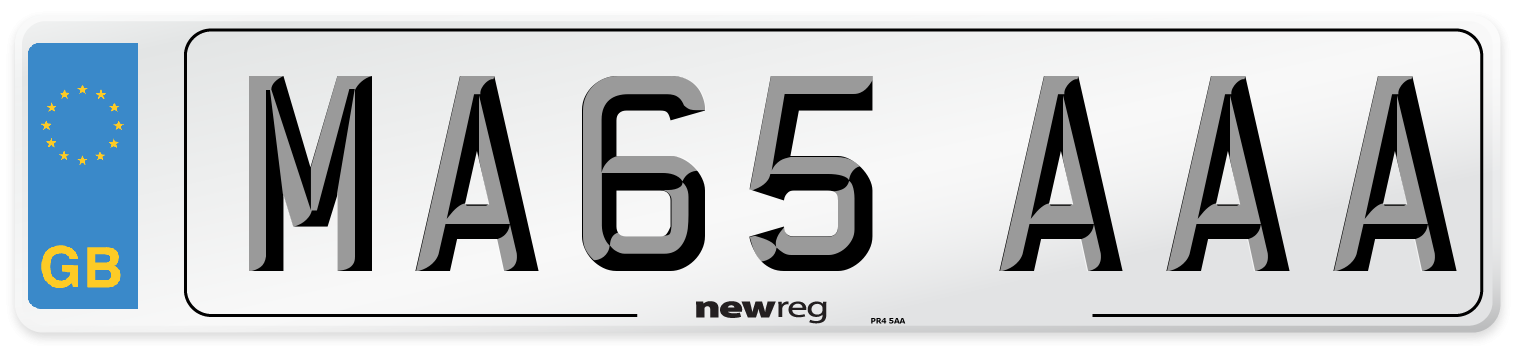 MA65 AAA Number Plate from New Reg