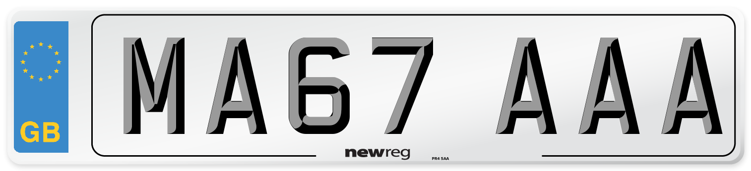 MA67 AAA Number Plate from New Reg