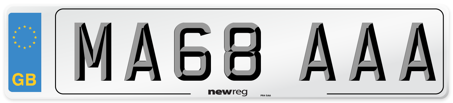 MA68 AAA Number Plate from New Reg
