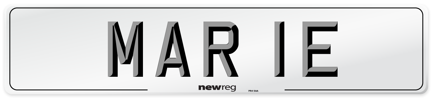 MAR 1E Number Plate from New Reg