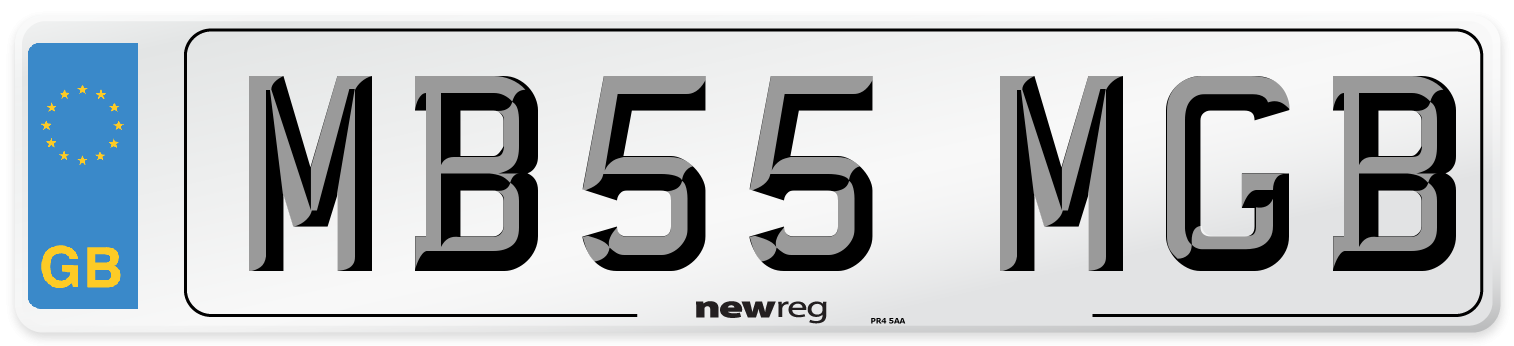 MB55 MGB Number Plate from New Reg