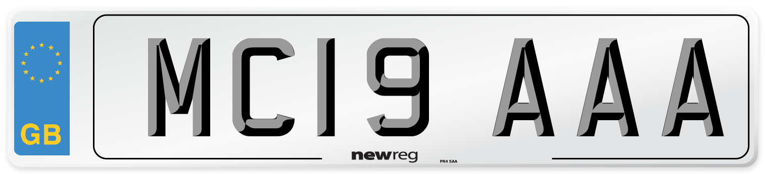 MC19 AAA Number Plate from New Reg