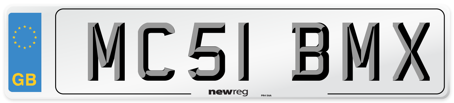 MC51 BMX Number Plate from New Reg