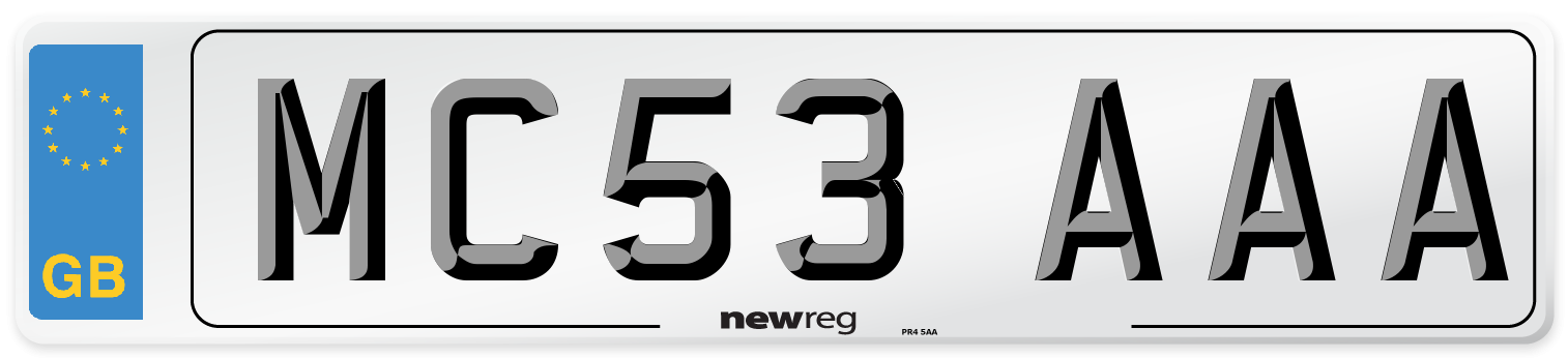 MC53 AAA Number Plate from New Reg