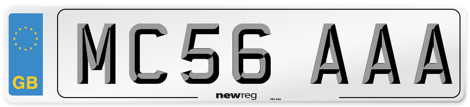 MC56 AAA Number Plate from New Reg