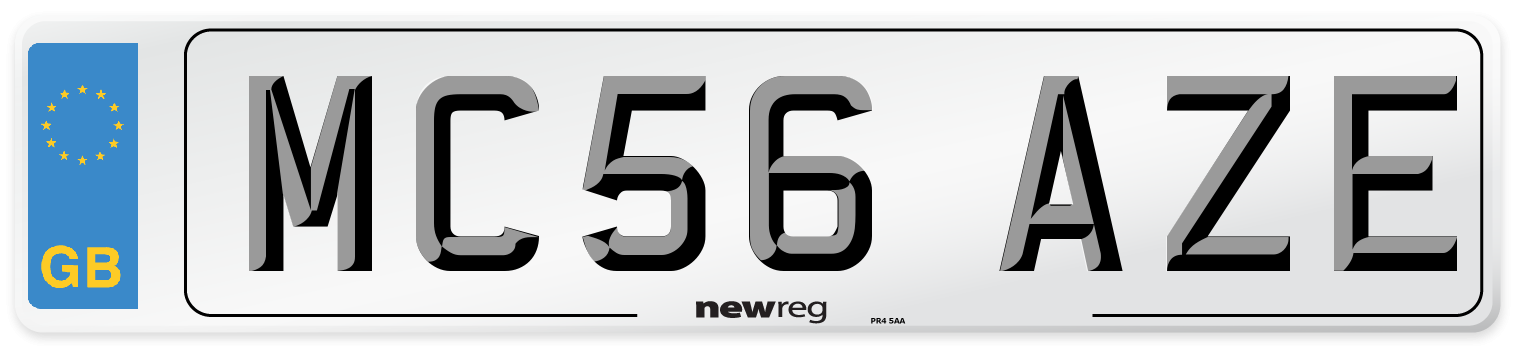 MC56 AZE Number Plate from New Reg