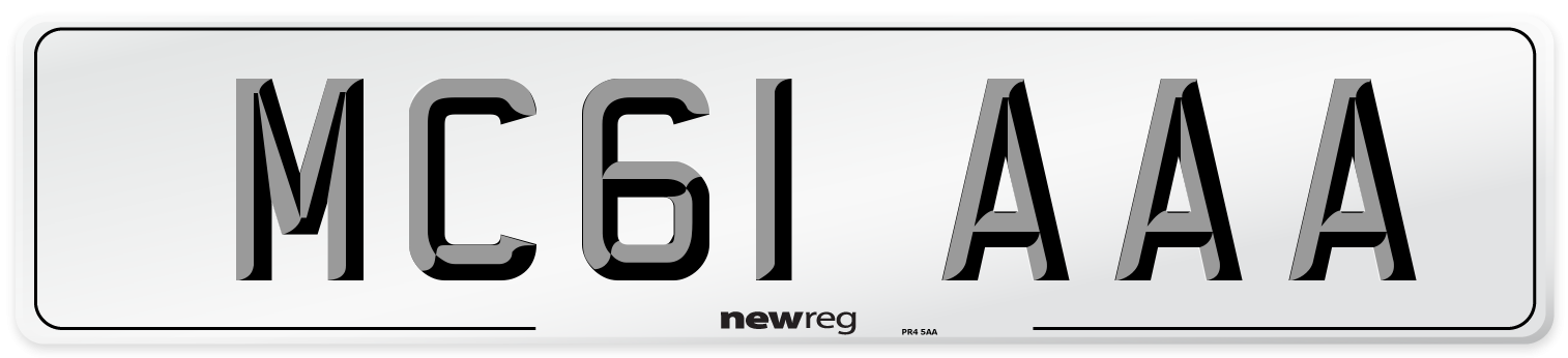 MC61 AAA Number Plate from New Reg