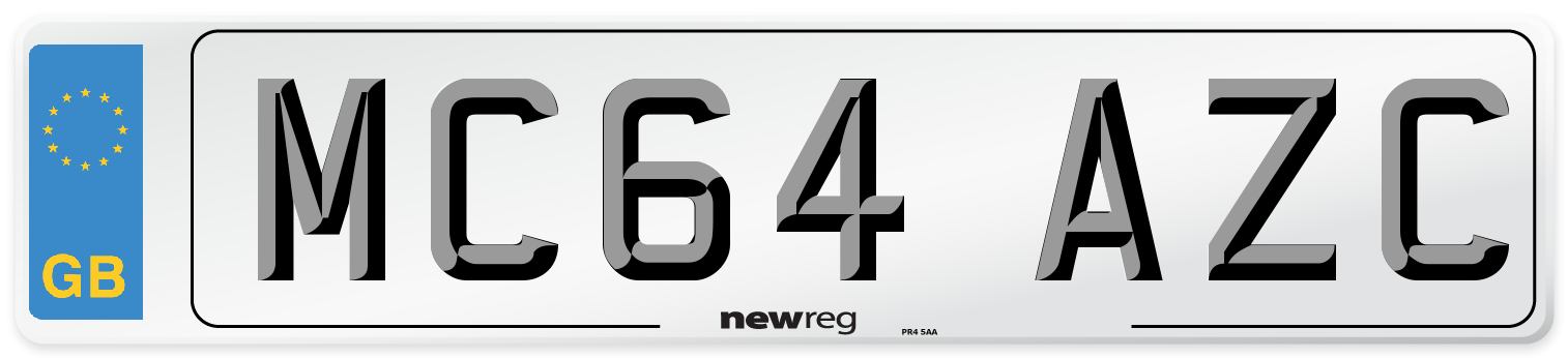 MC64 AZC Number Plate from New Reg