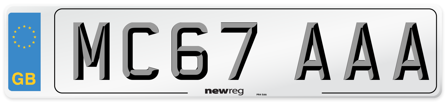 MC67 AAA Number Plate from New Reg