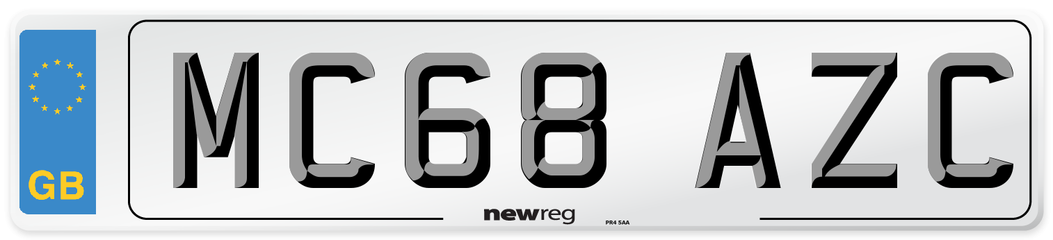 MC68 AZC Number Plate from New Reg