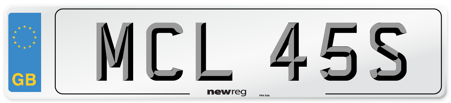 MCL 45S Number Plate from New Reg