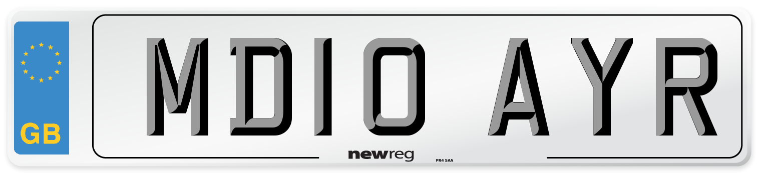 MD10 AYR Number Plate from New Reg