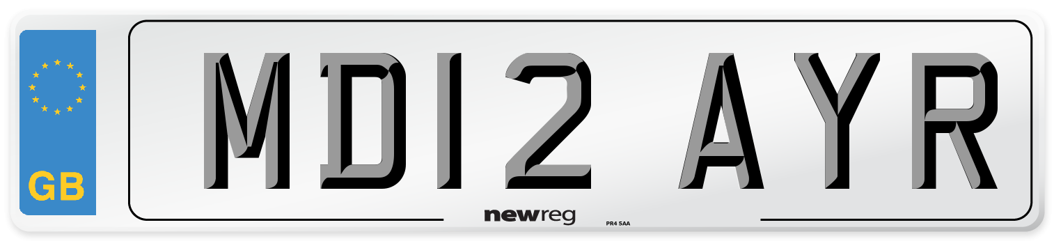 MD12 AYR Number Plate from New Reg