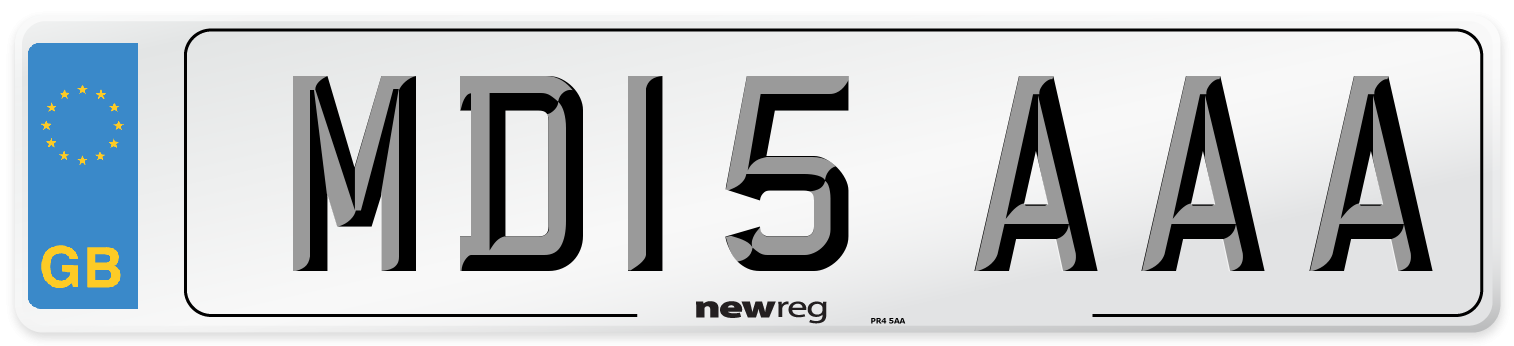 MD15 AAA Number Plate from New Reg