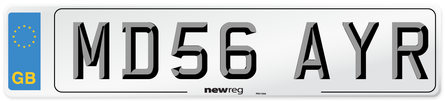 MD56 AYR Number Plate from New Reg