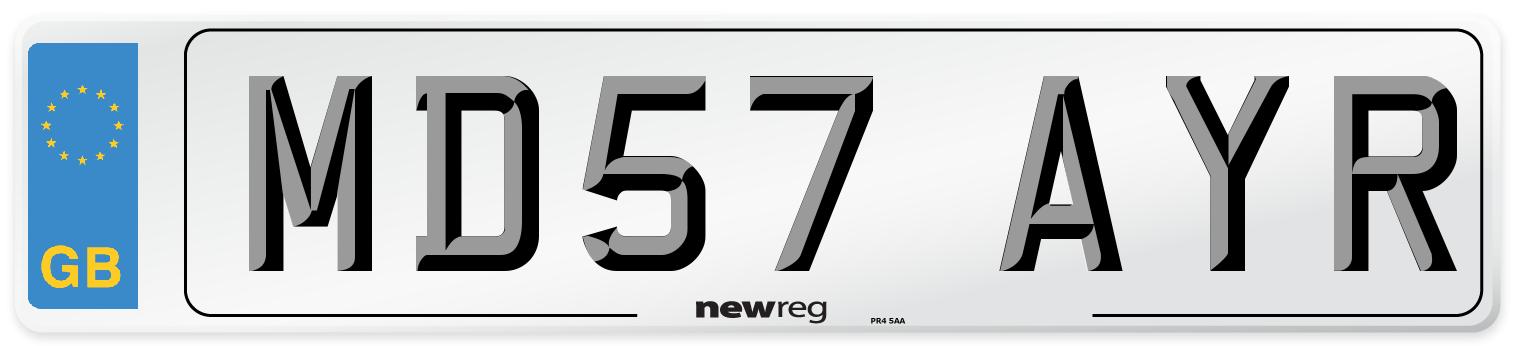 MD57 AYR Number Plate from New Reg