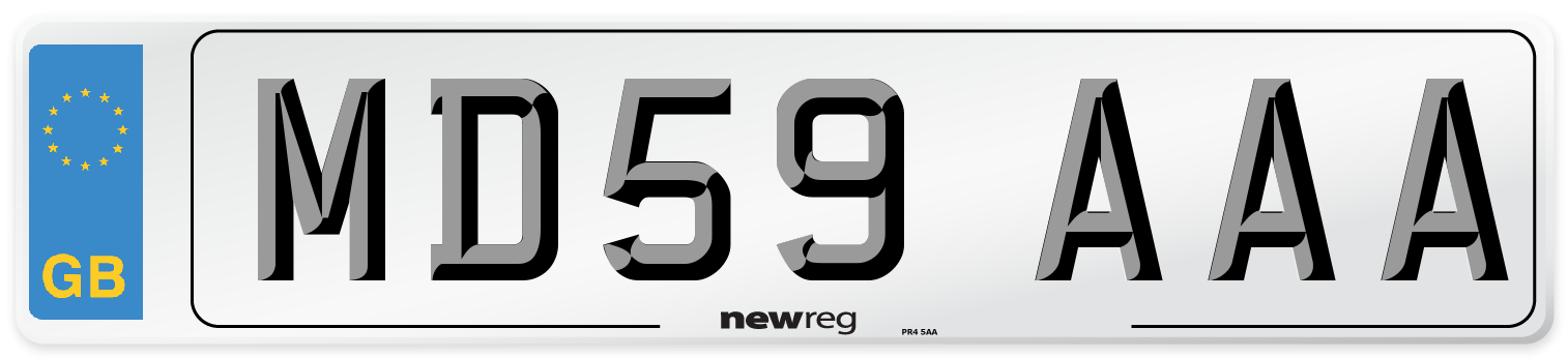 MD59 AAA Number Plate from New Reg