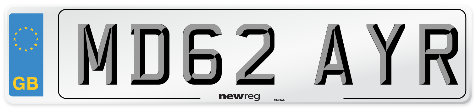MD62 AYR Number Plate from New Reg