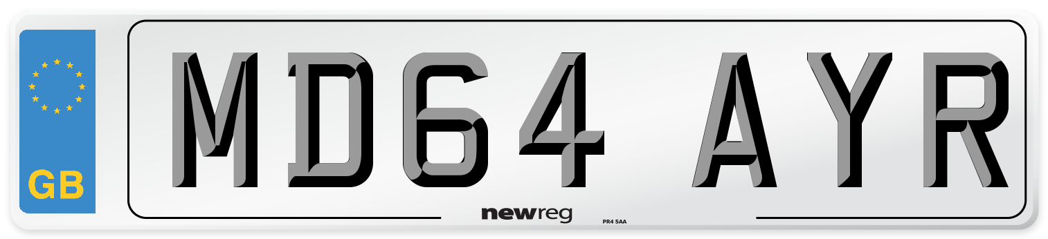 MD64 AYR Number Plate from New Reg