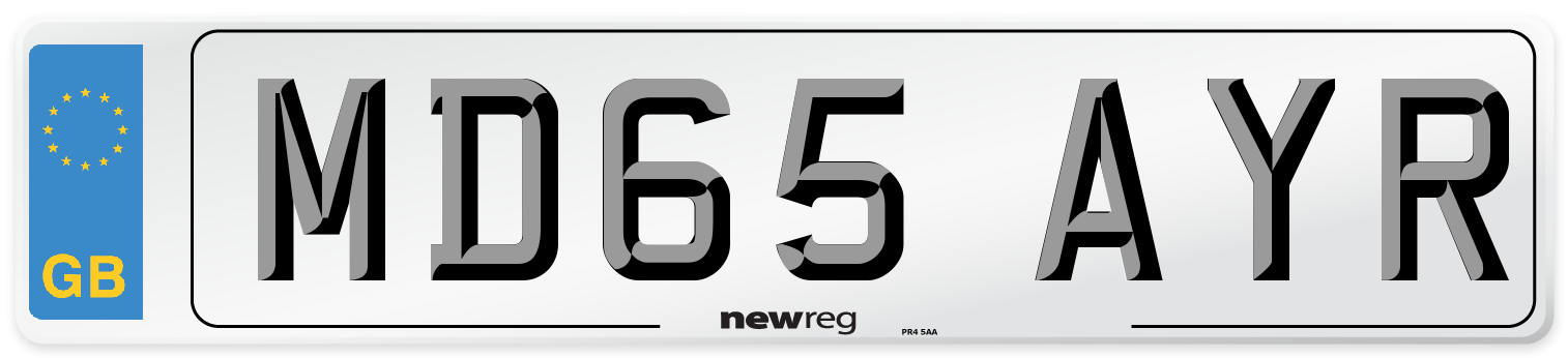 MD65 AYR Number Plate from New Reg