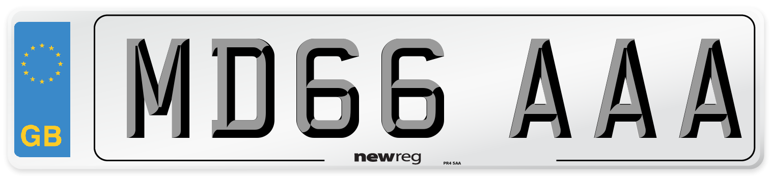 MD66 AAA Number Plate from New Reg