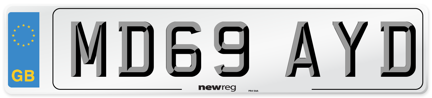 MD69 AYD Number Plate from New Reg