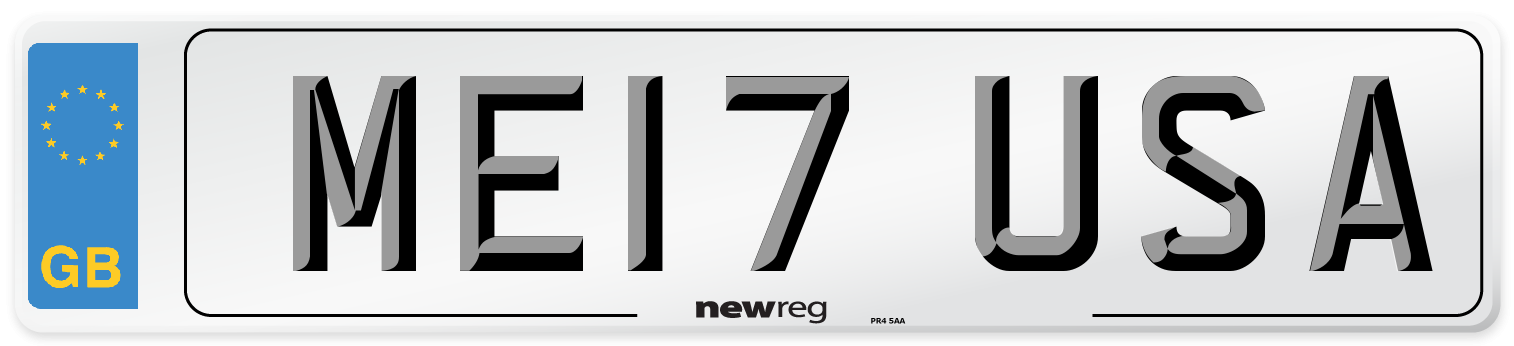 ME17 USA Number Plate from New Reg