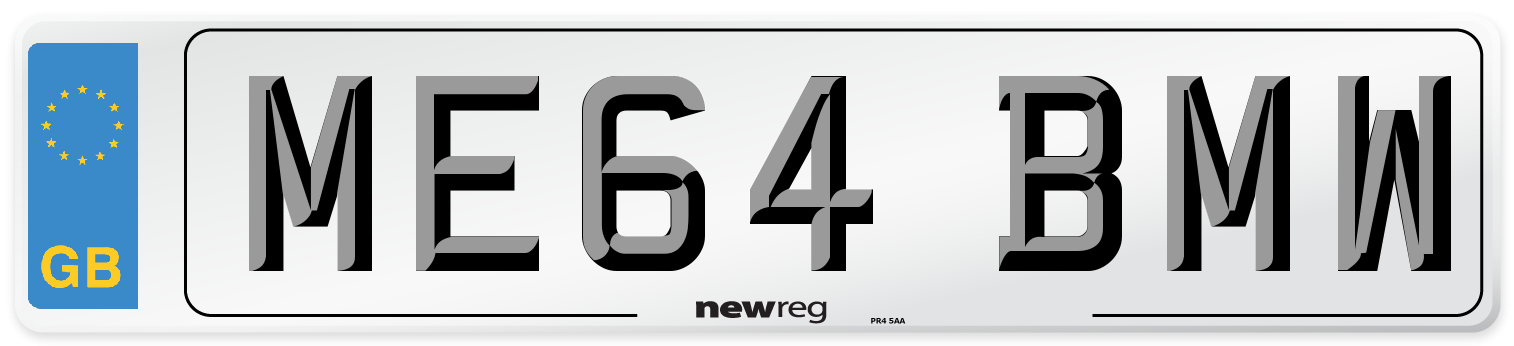 ME64 BMW Number Plate from New Reg