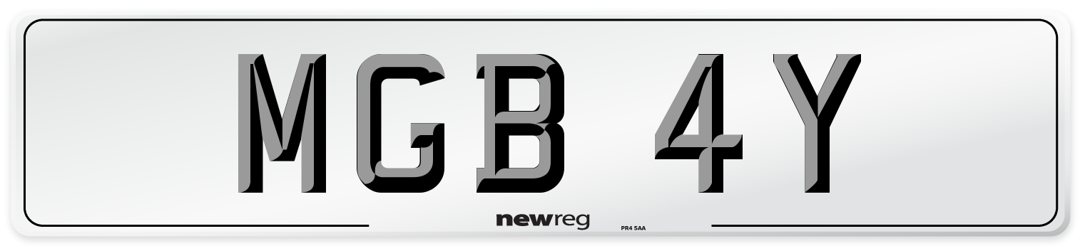 MGB 4Y Number Plate from New Reg