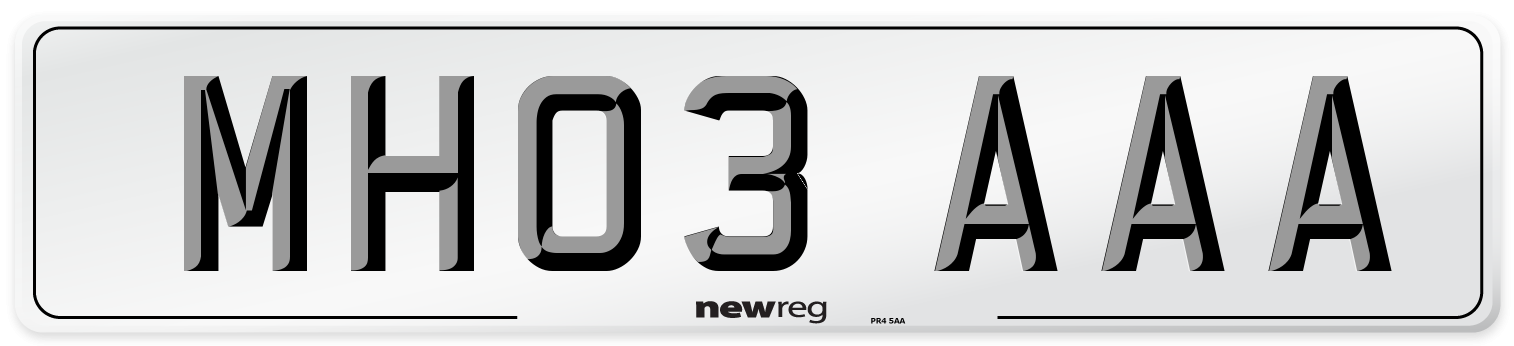 MH03 AAA Number Plate from New Reg