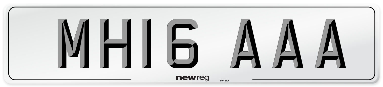 MH16 AAA Number Plate from New Reg